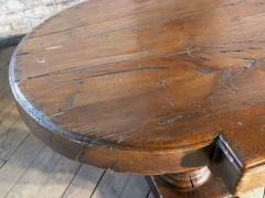 Massive 19th Century French Elm and Oak Trestle Table - 1307517