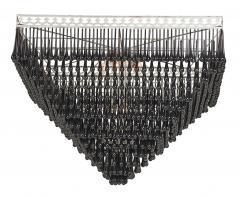 Massive Pyramid Form Black Murano Glass Chandelier - 790761