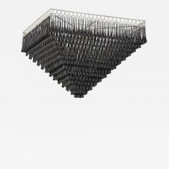 Massive Pyramid Form Black Murano Glass Chandelier - 793287