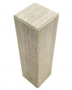 Matching Pair of Mid Century Italian Post Modern Travertine Marble Pedestals - 2059004