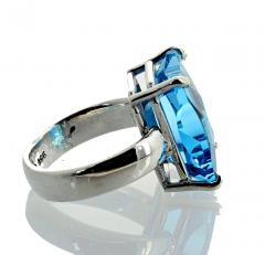 Matching Set of Blue Topaz Ring and Pendant set in Sterling Silver - 1865978