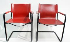 Mateo Grassi Pair of Cantilever Visitor Side Chairs Signed Matteo Grassi Italy 1970s - 1933330