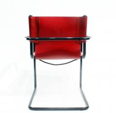 Mateo Grassi Pair of Cantilever Visitor Side Chairs Signed Matteo Grassi Italy 1970s - 1933335