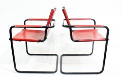 Mateo Grassi Pair of Cantilever Visitor Side Chairs Signed Matteo Grassi Italy 1970s - 1933337