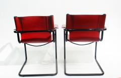 Mateo Grassi Pair of Cantilever Visitor Side Chairs Signed Matteo Grassi Italy 1970s - 1933341