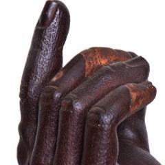 Mathias Goeritz Modern Art Brutalist Suggestive Hand Sculpture in Wood 1950s Modernism MEXICO - 1988174
