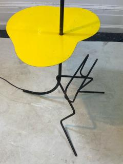 Mathieu Mat got FRENCH MID CENTURY MAGAZINE COCKTAIL TABLE FLOOR LAMP IN THE STYLE OF MATEGOT - 2122982