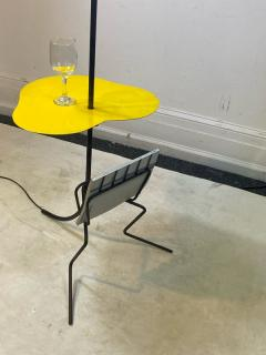 Mathieu Mat got FRENCH MID CENTURY MAGAZINE COCKTAIL TABLE FLOOR LAMP IN THE STYLE OF MATEGOT - 2122984