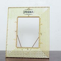 Mathieu Mat got Manner of Mathieu Mat got Metal Perforated Perma Picture Photo Frame 1950s - 1509972