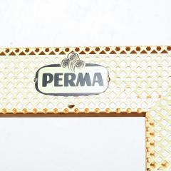 Mathieu Mat got Manner of Mathieu Mat got Metal Perforated Perma Picture Photo Frame 1950s - 1509974