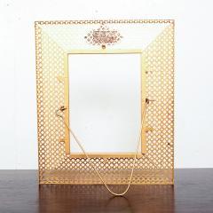 Mathieu Mat got Manner of Mathieu Mat got Metal Perforated Perma Picture Photo Frame 1950s - 1509978