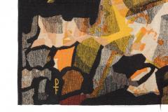 Mathieu Mat got Mathieu Mat got Signed Aubusson Tapestry for Pinton France 1960s - 548513