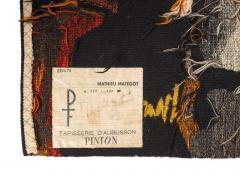 Mathieu Mat got Mathieu Mat got Signed Aubusson Tapestry for Pinton France 1960s - 548516