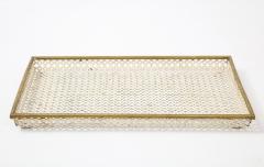Mathieu Mat got Mathieu Mat got White Tray Perforated Metal Brass Enamel France c 1950 - 1309677