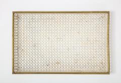 Mathieu Mat got Mathieu Mat got White Tray Perforated Metal Brass Enamel France c 1950 - 1309681