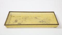 Mathieu Mat got Mathieu Mat got Yellow Perforated Metal Tray France c 1950 - 1309683