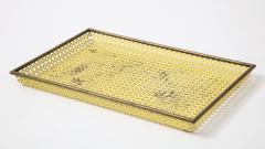 Mathieu Mat got Mathieu Mat got Yellow Perforated Metal Tray France c 1950 - 1309684