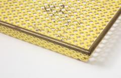 Mathieu Mat got Mathieu Mat got Yellow Perforated Metal Tray France c 1950 - 1309685