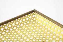 Mathieu Mat got Mathieu Mat got Yellow Perforated Metal Tray France c 1950 - 1309688