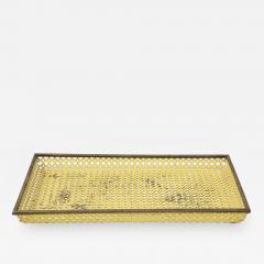 Mathieu Mat got Mathieu Mat got Yellow Perforated Metal Tray France c 1950 - 1311740