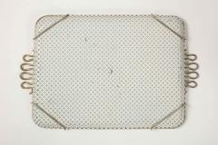 Mathieu Mat got Mathieu Mategot Perforated White Metal Tray - 2132370