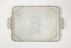 Mathieu Mat got Mathieu Mategot Perforated White Metal Tray - 2132373