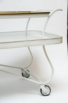Mathieu Mat got Mathieu Mategot Serving Cart with Removable Tray in White Enameled Metal - 727168