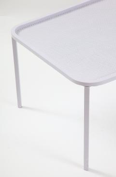 Mathieu Mat got Mathieu Mategot White Rectangular Perforated Metal Table - 2059099
