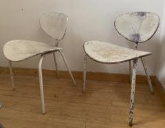 Mathieu Mat got Mathieu Mategot genuine pair of Nagasaki chair in vintage condition - 1779872