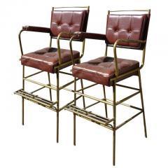 Mathieu Mat got Mathieu Mategot pair of comfy bar stools - 1312428