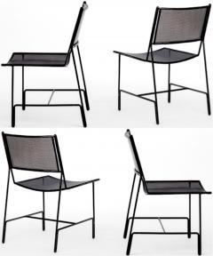 Mathieu Mat got Mathieu Mategot rarest set of 4 black chairs documented model Panamera  - 1651596