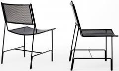 Mathieu Mat got Mathieu Mategot rarest set of 4 black chairs documented model Panamera  - 1651597