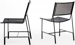 Mathieu Mat got Mathieu Mategot rarest set of 4 black chairs documented model Panamera  - 1651598