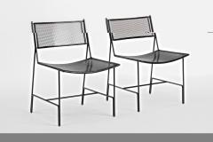 Mathieu Mat got Mathieu Mategot rarest set of 4 black chairs documented model Panamera  - 1651599
