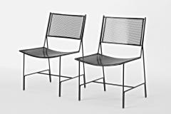 Mathieu Mat got Mathieu Mategot rarest set of 4 black chairs documented model Panamera  - 1651600