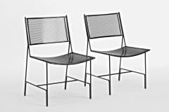 Mathieu Mat got Mathieu Mategot rarest set of 4 black chairs documented model Panamera  - 1651601