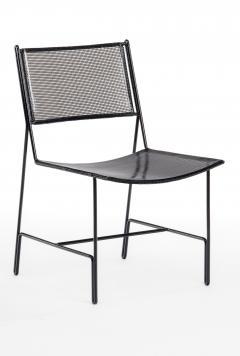 Mathieu Mat got Mathieu Mategot rarest set of 4 black chairs documented model Panamera  - 1651612