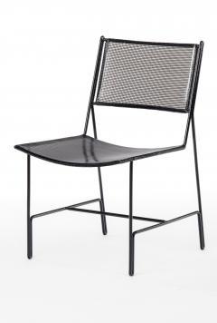 Mathieu Mat got Mathieu Mategot rarest set of 4 black chairs documented model Panamera  - 1651613