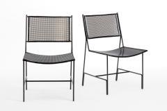 Mathieu Mat got Mathieu Mategot rarest set of 4 black chairs documented model Panamera  - 1651615