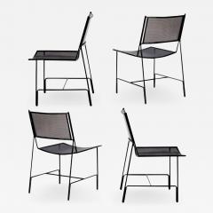 Mathieu Mat got Mathieu Mategot rarest set of 4 black chairs documented model Panamera  - 1651954