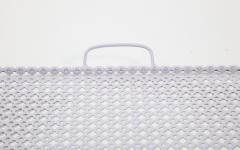 Mathieu Mat got White Rectangular Perforated Metal Tray by Mathieu Mat got - 2059072