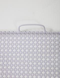 Mathieu Mat got White Rectangular Perforated Metal Tray by Mathieu Mat got - 2059075