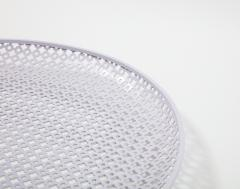 Mathieu Mat got White Round Perforated Metal Tray by Mathieu Mategot - 2057987