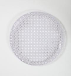 Mathieu Mat got White Round Perforated Metal Tray by Mathieu Mategot - 2057990
