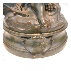 Mathurin Moreau Le R ve du Po te Monumental Fine Quality Patinated Bronze Sculpture - 1436483