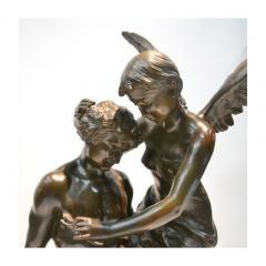Mathurin Moreau Le R ve du Po te Monumental Fine Quality Patinated Bronze Sculpture - 1436484