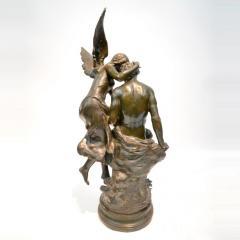 Mathurin Moreau Le R ve du Po te Monumental Fine Quality Patinated Bronze Sculpture - 1436485