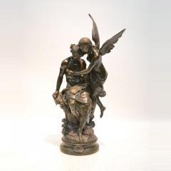 Mathurin Moreau Le R ve du Po te Monumental Fine Quality Patinated Bronze Sculpture - 1436487