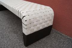 Matteo Grassi Woven Leather Brera Bench by Guglielmo Ulrich for Matteo Grassi - 2013131