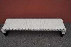 Matteo Grassi Woven Leather Brera Bench by Guglielmo Ulrich for Matteo Grassi - 2013132